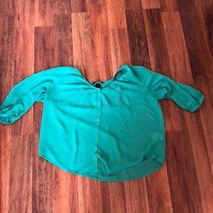 Aqua green blouse